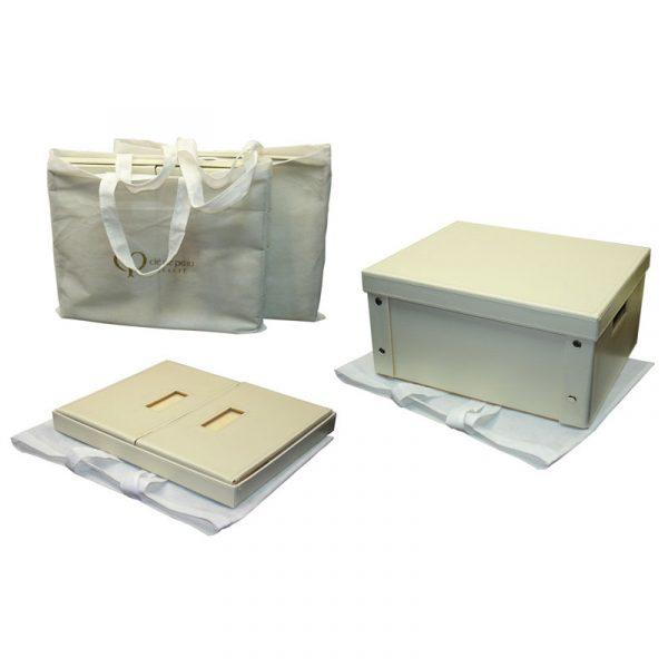 faux leather folding box